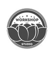 workshop studio vintage isolated label vector image vector image