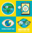 world sight day banner set flat style vector image