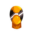 yellow and black mask of super hero face vector image vector image