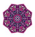 zen art inspired flower mandala design vector image vector image