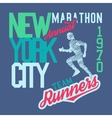 New York City Marathon vector image