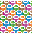 Colorful hexagon pattern seamless wallpaper vector image