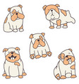 set of bulldogs vector image
