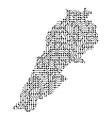 abstract schematic map of lebanon from the black vector image vector image