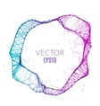 Abstract technology polygonal circle Futuristic vector image