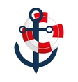 anchor buoy nautical travel maritime vector image vector image