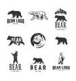bears logos logotypes vector image vector image