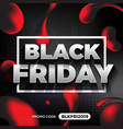black friday promotion banner and background vector image vector image
