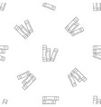 book set pattern seamless vector image