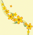 bouquet of yellow flowers on a branch