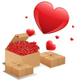 Boxes of roses vector image vector image