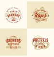 brewery premium abstract signs symbols or vector image vector image