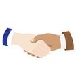 business men hands shaking vector image