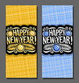 cards for new year vector image vector image
