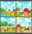 cartoon concepts set vector image vector image