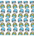 cartoon man repair service garage seamless pattern vector image