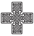 celtic pagan cross vector image vector image