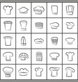 chef hats of all shapes thin outline vector image vector image