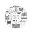 city of Rio de Janeiro vector image vector image