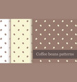 coffee beans seamless pattern backgrounds pack vector image