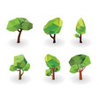 collection-low-poly-trees vector image vector image