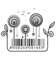Concept with barcode vector image