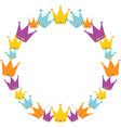 crowns wreath vector image vector image