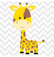 cute giraffe isolated vector image vector image