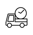 delivery on time logistic icon vector image