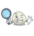 detective character cartoon fresh mozzarella vector image vector image