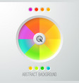 digital abstract web template vector image