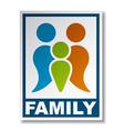 family symbol sticker vector image vector image