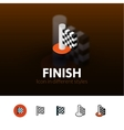 Finish icon in different style vector image vector image