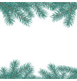 fir branch border winter holiday decoration vector image vector image