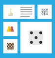flat icon play set of people xo chess table and vector image vector image
