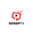 gossip infotainment channel tv logo symbol icon vector image