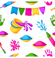 happy holi colorful seamless pattern vector image vector image