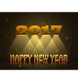 Happy New Year 2017 greeting card design for you vector image vector image