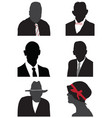 heads avatar profiles vector image