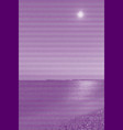 image collage of surf on a sandy beach at night vector image