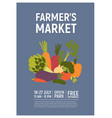 invitation template for farmers market harvest vector image