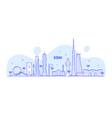 jeddah skyline saudi arabia city linear art vector image vector image