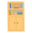 literature on shelf education sign school vector image