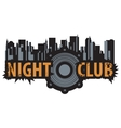 logo for a night club vector image