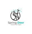 logo spring deer line art style vector image