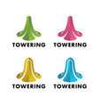logos of the tower is rising vector image vector image