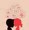 love is share the same thoughts and valentines vector image vector image