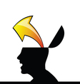 man idea icon silhouette black had vector image
