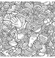massage hand drawn doodles seamless pattern spa vector image vector image