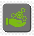Mechanics Service Rounded Square Button vector image vector image